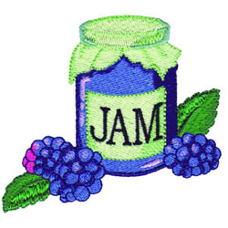 Blueberry Jam embroidery design