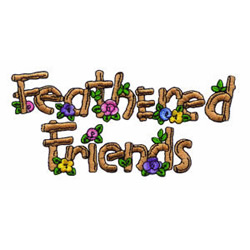 Feathered Friends embroidery design
