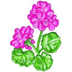 Geraniums embroidery design