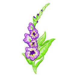 Gladiolus embroidery design