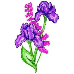 Irises embroidery design