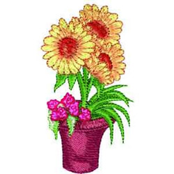 Sunflowers embroidery design