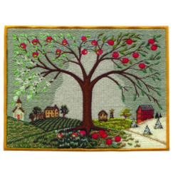 Tree with Landscape embroidery design