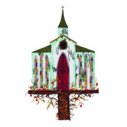 Religious Birdhouse embroidery design