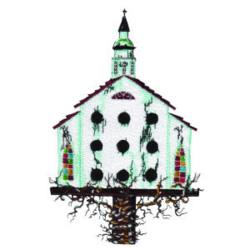 Church Birdhouse embroidery design
