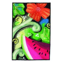 Floral Melon Scene embroidery design