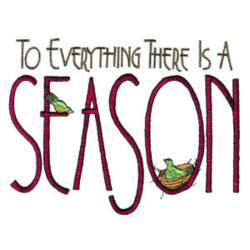 Season for Everything embroidery design