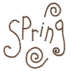 Spring text embroidery design
