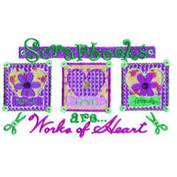 Scrapbooks embroidery design