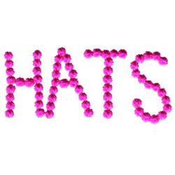 Hats embroidery design