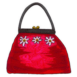 Flowered Purse embroidery design