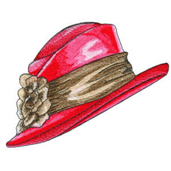 Red Hat embroidery design