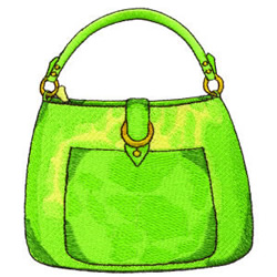 Green Purse embroidery design
