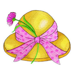 Spring Hat embroidery design