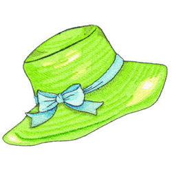 Beach Hat embroidery design