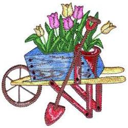 Tulip Cart embroidery design