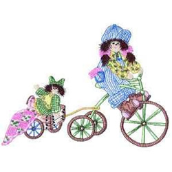 Girl On Tricycle embroidery design