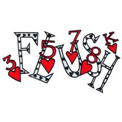 Flush embroidery design