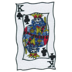 King of Clubs embroidery design