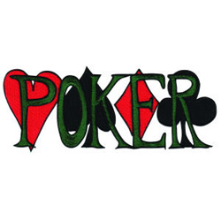 Poker embroidery design