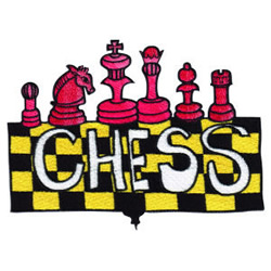 Chess embroidery design