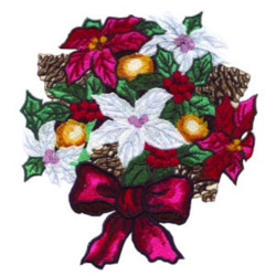 Poinsettia Bouquet embroidery design