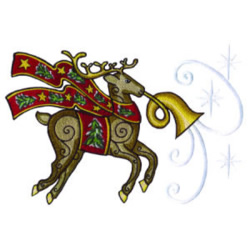 Reindeer Ornament embroidery design