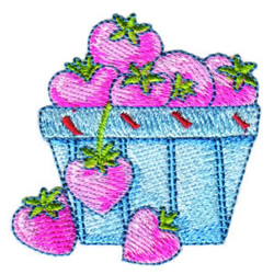 Strawberry Love embroidery design