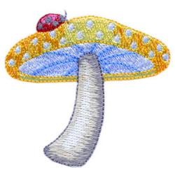 Ladybug and Mushroom embroidery design