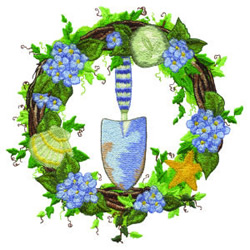 Summer Wreath embroidery design
