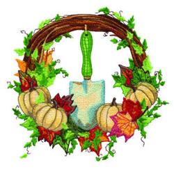 Fall Wreath embroidery design