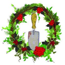 Winter Wreath embroidery design