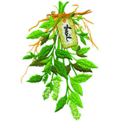 Basil embroidery design