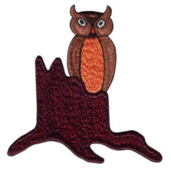 Perched Owl embroidery design