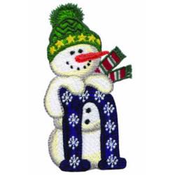 Snowman NOEL embroidery design