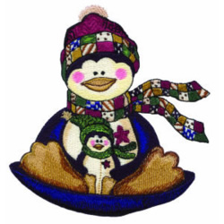 Christmas Riding embroidery design