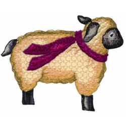 Holiday Lamb embroidery design