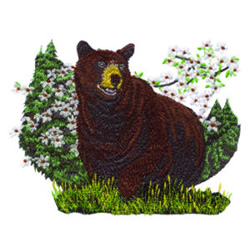 Grizzly Bear embroidery design