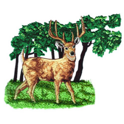Stag embroidery design