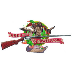 Gunning for Waterfowl embroidery design