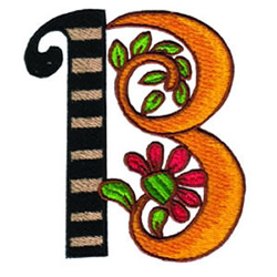 Loris Alphabet B embroidery design