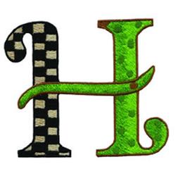 Loris Alphabet H embroidery design