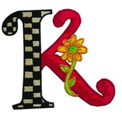 Loris Alphabet K embroidery design