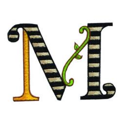 Loris Alphabet M embroidery design