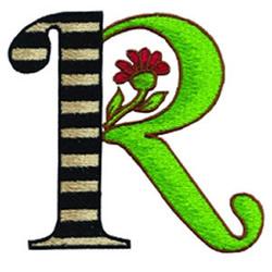 Loris Alphabet R embroidery design