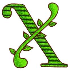Loris Alphabet X embroidery design