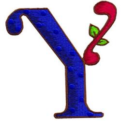 Loris Alphabet Y embroidery design