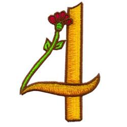 Loris Alphabet 4 embroidery design