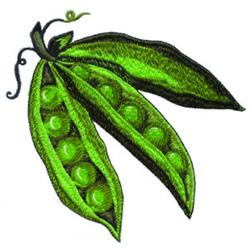 Peas embroidery design