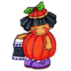 Pumpkin Patch Kid 6 embroidery design